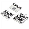 20mm flat ACRYLIC PATTERN magnet STYLE 4 - per 10 clasps