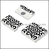 25mm flat ACRYLIC PATTERN magnet STYLE 1 - per 10 clasps