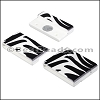 25mm flat ACRYLIC PATTERN magnet STYLE 2 - per 10 clasps