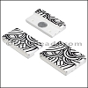 25mm flat ACRYLIC PATTERN magnet STYLE 4 - per 10 clasps
