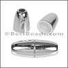 3mm round ACRYLIC magnet CHROME - per 10 clasps