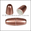 3mm round ACRYLIC magnet COPPER - per 10 clasps