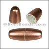 3mm round ACRYLIC magnet BRONZE - per 10 clasps
