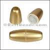 3mm round ACRYLIC magnet MATTE GOLD - per 10 clasps