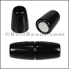 5mm round ACRYLIC magnet SHINY BLACK - per 10 clasps