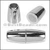 5mm round ACRYLIC magnet CHROME - per 10 clasps