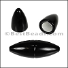 1.5mm round ACRYLIC magnet SHINY BLACK - per 10 clasps