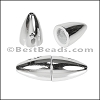 1.5mm round ACRYLIC magnet CHROME - per 10 clasps