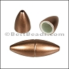 1.5mm round ACRYLIC magnet BRONZE - per 10 clasps