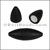 1.5mm round ACRYLIC magnet MATTE BLACK - per 10 clasps