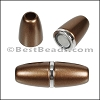 6mm round ACRYLIC magnet S.L. BRONZE - per 10 clasps