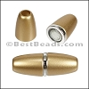 6mm round ACRYLIC magnet S.L. MATTE GOLD - per 10 clasps
