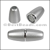 6mm round ACRYLIC magnet S.L. MATTE SILVER - per 10 clasps