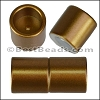 10mm round ACRYLIC magnet CYL MATTE BRONZE - per 10 clasps
