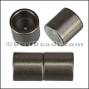 10mm round ACRYLIC magnet CYL MATTE GUNMETAL - per 10 clasps