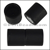 10mm round ACRYLIC magnet CYL MATTE BLACK - per 10 clasps