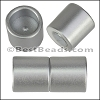 10mm round ACRYLIC magnet CYL MATTE SILVER - per 10 clasps