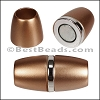 8mm round ACRYLIC magnet S.L. BRONZE - per 10 clasps