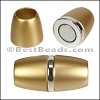 8mm round ACRYLIC magnet S.L. MATTE GOLD - per 10 clasps