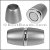 10mm round ACRYLIC magnet S.L. MATTE SILVER - per 5 clasps
