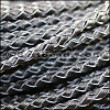 4mm round AMERICAN BRAIDED leather BLACK - per 3 feet