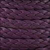 10mm flat BRAIDED leather PURPLE - 1 meter