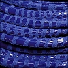 5mm round CANCUN leather ROYAL BLUE - meter
