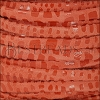 5mm flat CANCUN leather ORANGE - per 5 meters