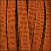 5mm flat CANCUN leather ORANGE - per 20m SPOOL