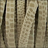 5mm flat CANCUN leather BEIGE - per 5 meters