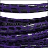 MINI Regaliz® Leather Oval CANCUN PURPLE - per 10m SPOOL