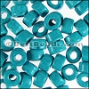 ceramic bead 1000 pcs NEON BLUE