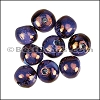 Ceramic Large Round Bead PURPLE COPPER per 10 pieces