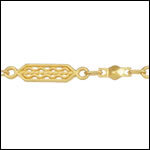 tribal filigree chain MATTE GOLD - per 25ft spool