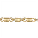FS-1 chain MATTE GOLD - per 10ft spool