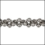 Double Helix chain ANT SILVER - per 10ft spool