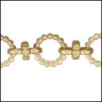 Kelly's chain MATTE GOLD - per 10ft spool