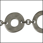 Donut chain MATTE GUNMETAL - per 10ft spool