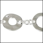 Donut chain SILVER PLATE - per 10ft spool