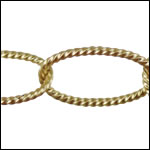 oval rope chain MATTE GOLD - per 25ft spool