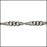 Spiral Curb chain RHODIUM - per 50ft spool