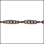 Spiral Curb chain ANTIQUE COPPER - per 50ft spool