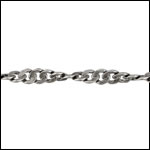 Spiral Curb chain ANTIQUE SILVER - per 50ft spool