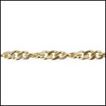 Spiral Curb chain GOLD - per 50ft spool