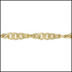 Spiral Curb chain MATTE GOLD - per 50ft spool