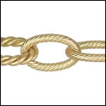 mixed rope etched chain MATTE GOLD - per 50ft spool
