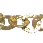 hammered washer chain MATTE GOLD - per 10ft spool