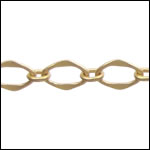 Galeria chain MATTE GOLD - per 50ft spool