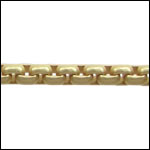 Venetian chain MATTE GOLD - per 25ft spool