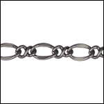 twisted figaro chain MATTE GUNMETAL - per 50ft spool